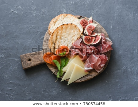 Prosciutto formaggio antipasto alimentare fiore carne Foto d'archivio © Digifoodstock