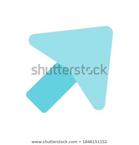 стрелка · право · мягкой · синий · цвета · икона - Сток-фото © ahasoft