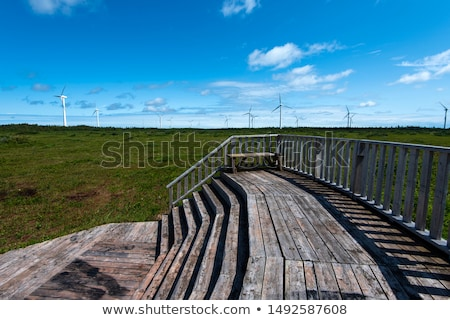 The observatory deck on the wind turbine stock photo © stockfrank