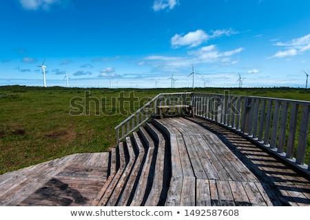The observatory deck on the wind turbine Stock photo © stockfrank