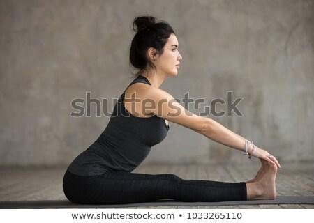 The Seated Forward Bend Yoga Pose Stock photo © kentoh