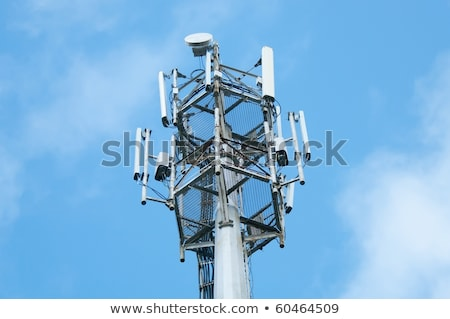 Mobile phone network GSM communication repeater antenna Stock photo © stevanovicigor