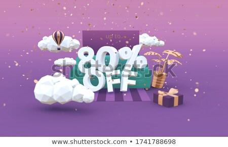 80 percent 3d rendering Stock photo © andreasberheide