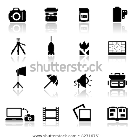 Icon of studio photo light bag Stock photo © angelp