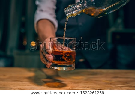 Glass of scotch whiskey on the background of the bar Stock photo © vlad_star