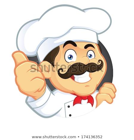 Boldog szakács kabala vektor clipart étel Stock fotó © doddis