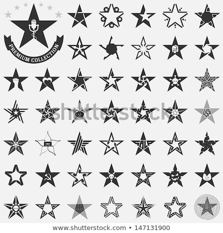 Cráneo estrellas forma negro máscara icono Foto stock © HunterX