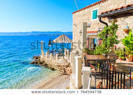 Small restaurant on the beach Stock photo © Fotografiche