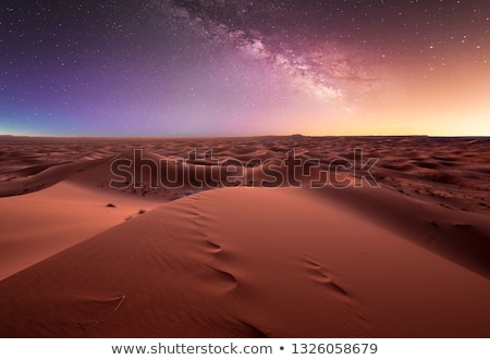 Stars at night over the dunes, Morocco Stock photo © johnnychaos