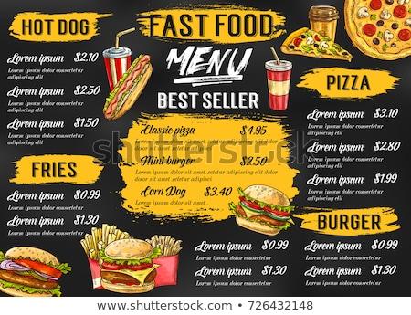 Fastfood vector menu. Stock photo © studioworkstock