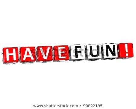 Rompecabezas palabra diversión piezas del rompecabezas construcción juguete Foto stock © fuzzbones0