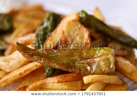 roast potato with herb Stock photo © M-studio