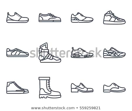 Set of footwear icons Stock photo © angelp
