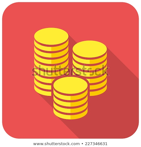 Round icons with coins Stock photo © bluering