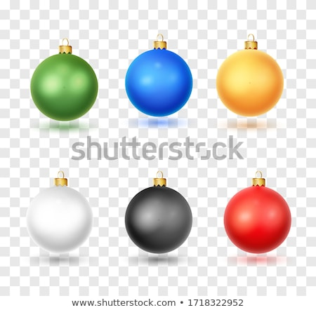vector black and white collection of christmas ball shapes stock photo © freesoulproduction
