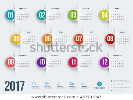 icon calendar 2017 year stock photo © oakozhan