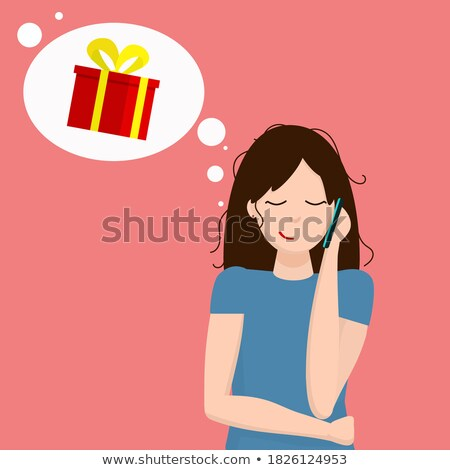 flirting girl thinking about a gift for Christmas Stock photo © Giulio_Fornasar