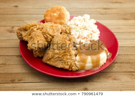 mashed potato and fried meat Stock photo © tycoon