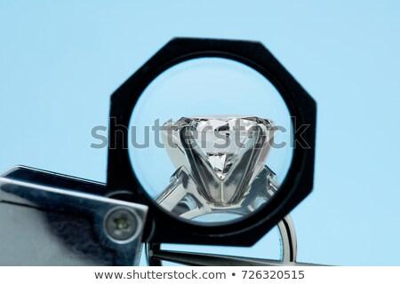 Side views of Large heart shape cut diamond isolated Stock photo © Arsgera