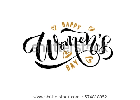 happy women s day card eps 10 stock photo © beholdereye