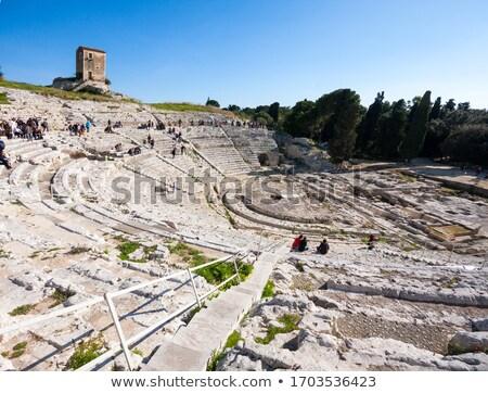 Régészeti park illusztráció tudomány Stock fotó © adrenalina