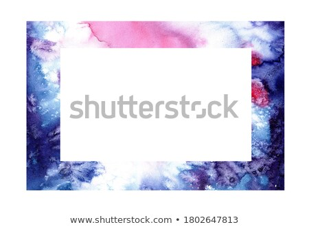 hand drawn ombre texture watercolor painted light blue and violet background space for text stock photo © mcherevan