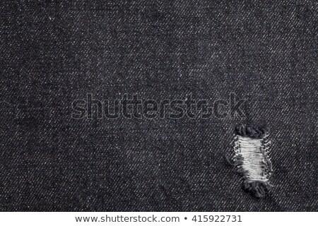 Zwarte jeans denim textuur echt steek Stockfoto © day908