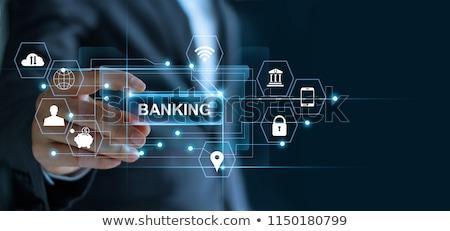 bancario · servicio · frente · vista · alcancía - foto stock © lightsource