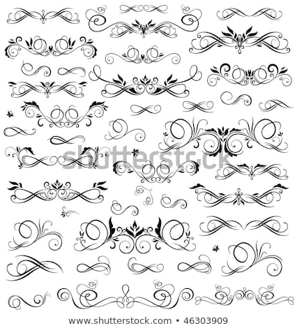 Butterfly abstract ornamental design with swirl elements Stock photo © Tefi