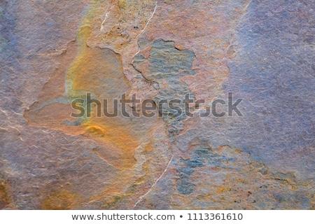 Giallo verniciato muro di pietra superficie texture costruzione Foto d'archivio © dolgachov