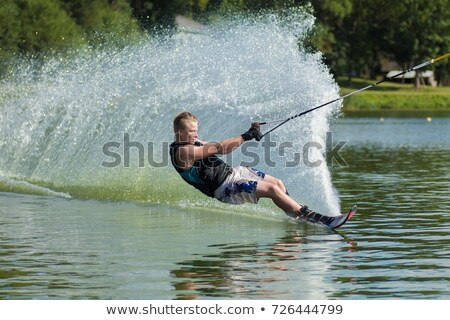 Pulling a Water Skier Stock photo © 2tun