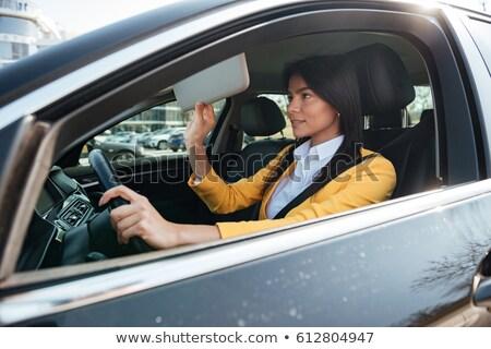 aantrekkelijk · zakenvrouw · drive · luxe · auto · elegante - stockfoto © deandrobot