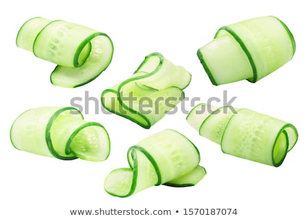 тонкий огурца Ломтики свежие Сток-фото © Digifoodstock