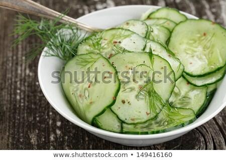 Vinagre pepino ensalada frescos aderezo alimentos Foto stock © Digifoodstock