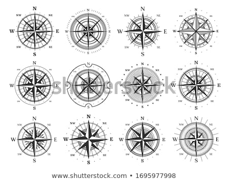 bússola · ícone · navegação · objeto · norte · sul - foto stock © gomixer