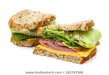 Sandwich prosciutto verdura bianco alimentare verde Foto d'archivio © nezezon
