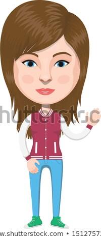 Dziewczyna piłkarz przezroczysty ilustracja sportu dziecko Zdjęcia stock © bluering