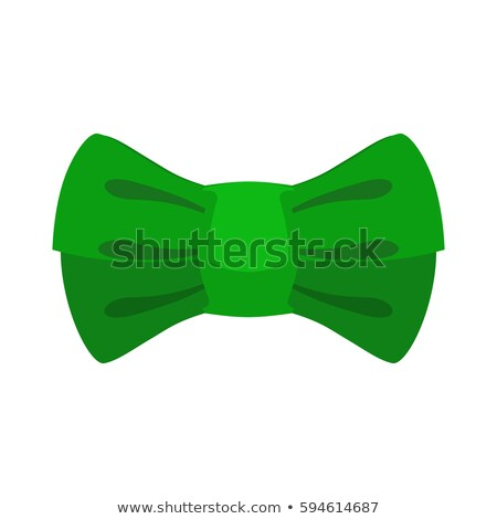 leprechaun bow tie Green. Traditional accessory fairy gnome in I Stock photo © MaryValery