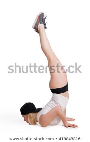 kadın · aerobik · dans · hareket · güzel - stok fotoğraf © julenochek