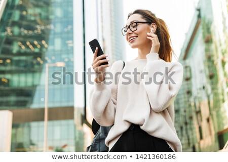 Ottimista imprenditrice produttività crescita società sorriso Foto d'archivio © alphaspirit