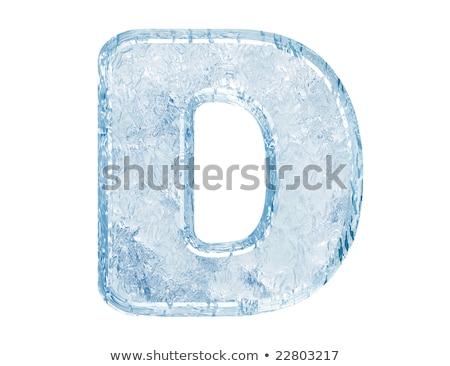 Jég betűtípus d betű 3D 3d render illusztráció Stock fotó © djmilic