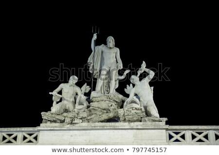 Rome · fontein · stad · vis · architectuur · witte - stockfoto © ankarb