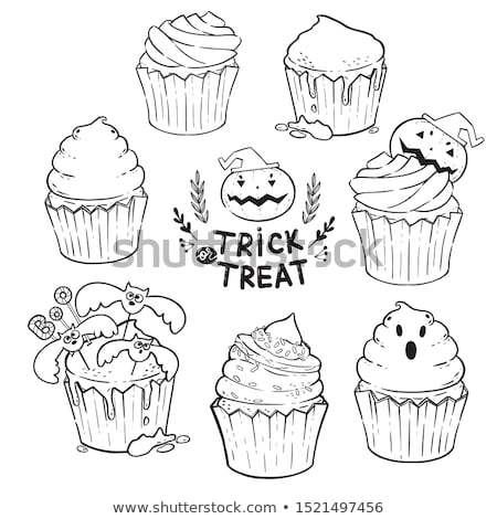 halloween ghost cupcakes Stock photo © LightFieldStudios