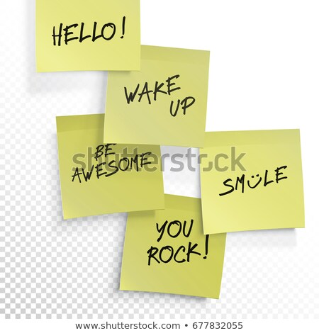 Wake up, be awesome, hello, smile, you rock - set of inspiration Stock photo © pashabo