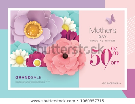 heart from flowers sale poster stock photo © cammep
