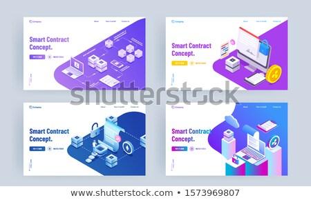 technologia · informacyjna · schowek · 3D · działalności · biurko - zdjęcia stock © tashatuvango