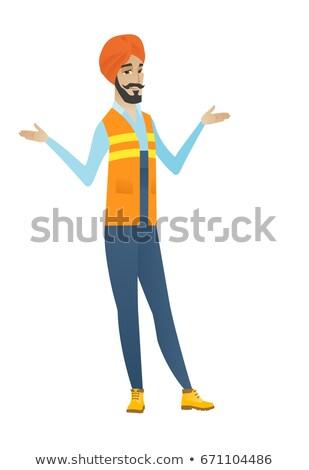 путать строителя Плечи сомнительный молодые Сток-фото © RAStudio
