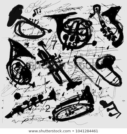 silhouette of musical representation Stock photo © Olena