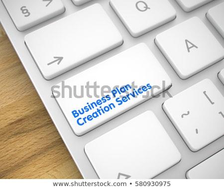 üzlet terv teremtés szolgáltatások billentyűzet kulcs Stock fotó © tashatuvango
