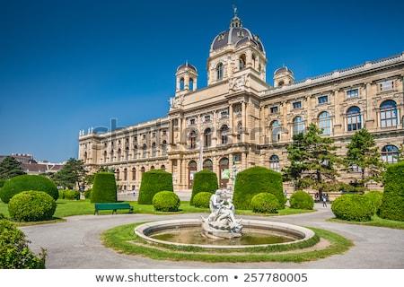 szobor · palota · kert · Bécs · Ausztria · város - stock fotó © tommyandone